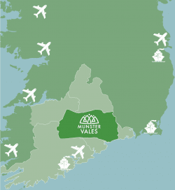 Access points from different parts of Ireland
